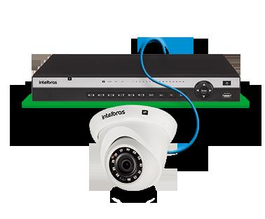 Câmera dome IP Full HD 2 Megapixels 2.8MM+ BLC/HLC/DWDR/IVS/R.O.I CERCA IP67 30MTS H.265 ONVIF PoE Intelbras VIP 3230 D  - JS Soluções em Segurança