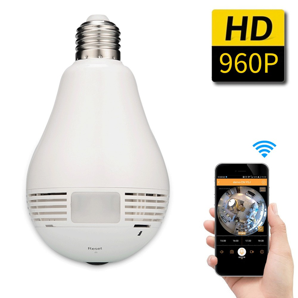 Câmera Panorâmica HD IP 360º graus Fisheye WiFi com audio  - JS Soluções em Segurança