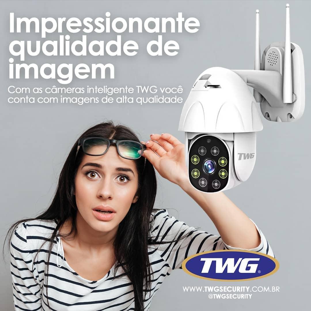 Câmera Speed dome infra IP 2 Megapixels lente 3.6mm IP66 com audío Wi-Fi PTZ Onvif Auto Traking 1080p - JS Soluções em Segurança