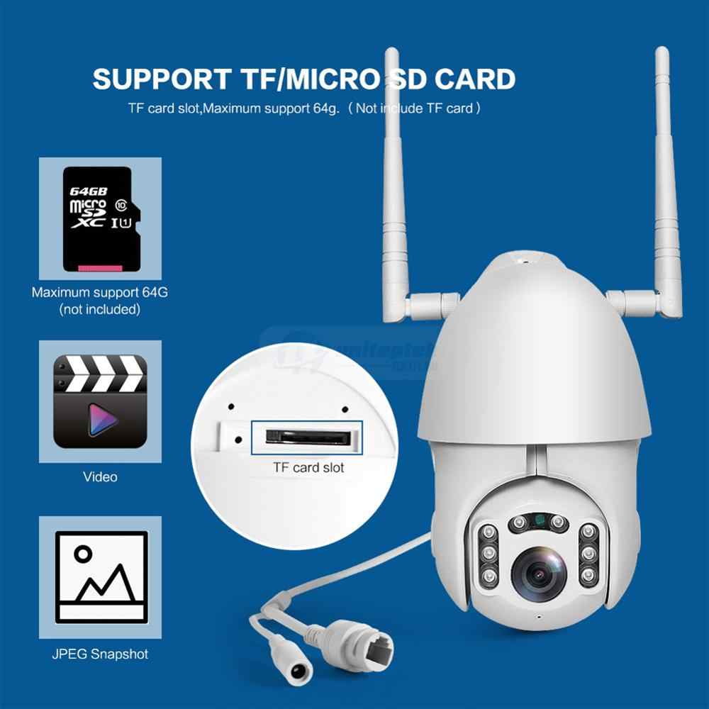 Câmera Speed dome infra vermelho IP 2 Megapixels lente 3.6mm fixa IP66 com audío Wi-fi PTZ onvif Full HD 1080p  - JS Soluções em Segurança