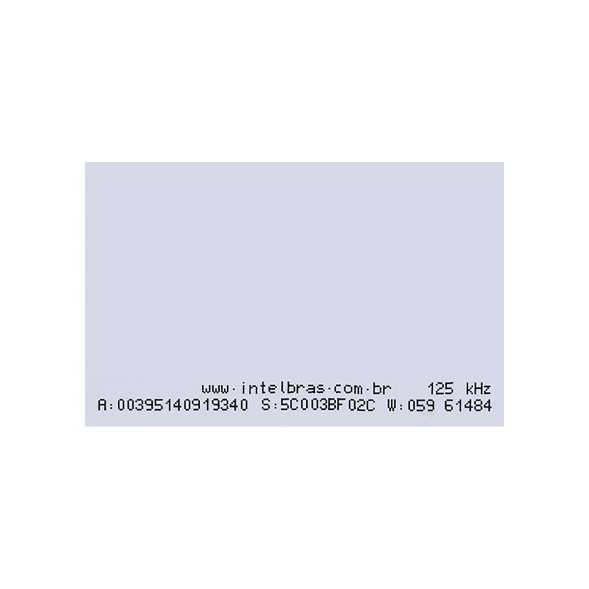 Cartão de acesso por proximidade intelbras RFID 125 kHz TH 2000  - JS Soluções em Segurança