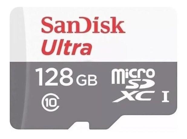Cartão Memória Sandisk Ultra 128gb 100mb/s Classe 10 Microsd - JS Soluções em Segurança