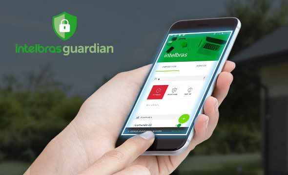 Central de alarme monitorada com até 64 zonas Mobile+PGM+Ethernet+linha+ receptor interno+ 1 controle intelbras AMT 4010 SMART NET  - JS Soluções em Segurança