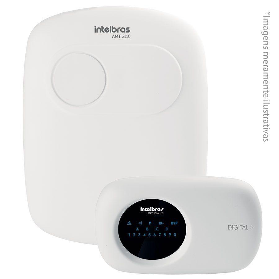 Central de alarme monitorada Intelbras AMT 2110 10 zonas (10 com fio + 16 sem fio), linha/ teclado /pgm  - JS Soluções em Segurança
