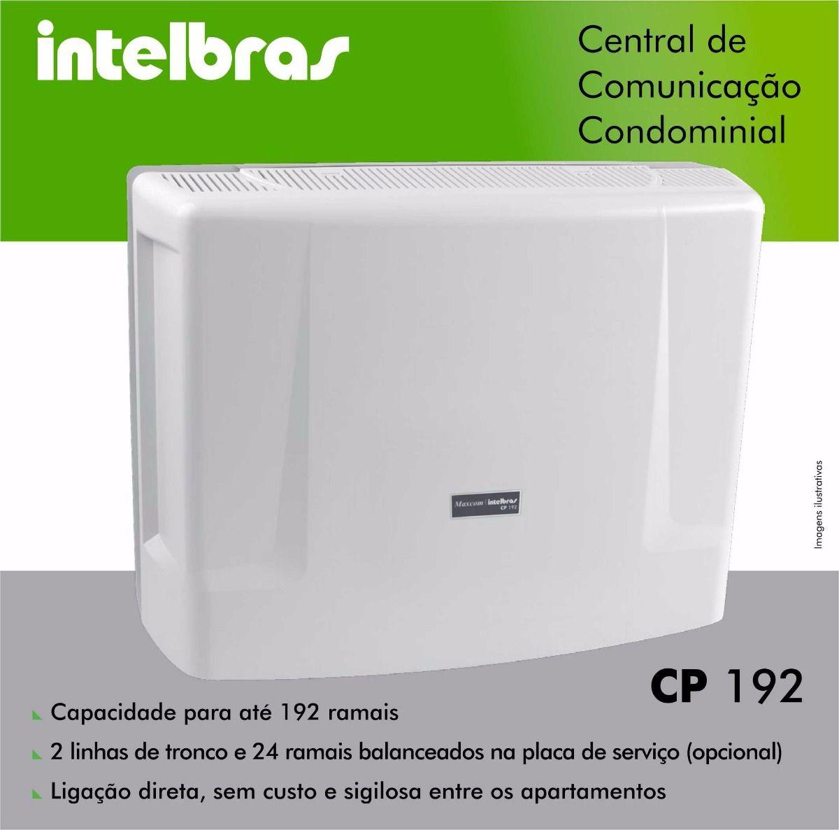 Central de comunicação condominial intelbras basica CP 192  - JS Soluções em Segurança