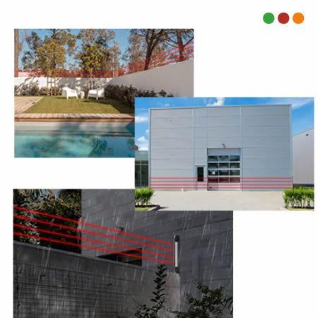 Cerca Vitual sensor de Infravermelho Ativo de 6 feixes 100mts intelbras IVA 7100 Hexa  - JS Soluções em Segurança