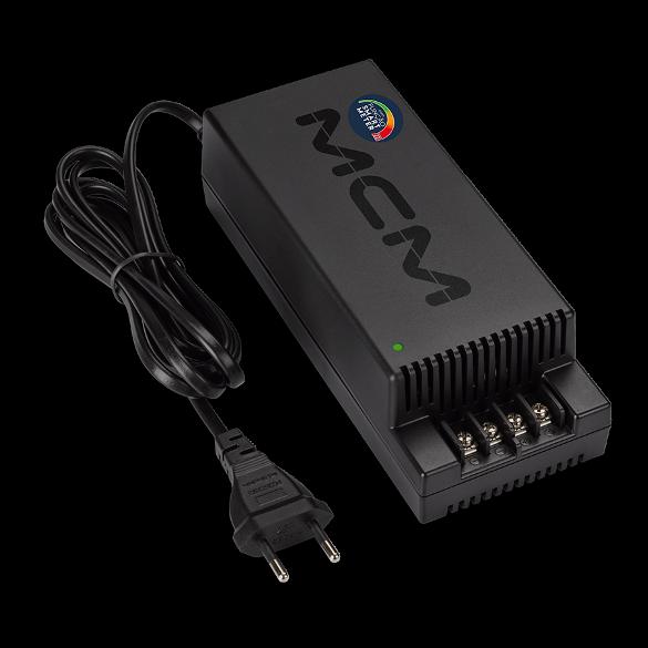 Fonte para alimentação de câmeras CFTV SMART METER 12V 10A MCM Fon1151-RS-1 COM INDICADOR DE POTÊNCIA - JS Soluções em Segurança