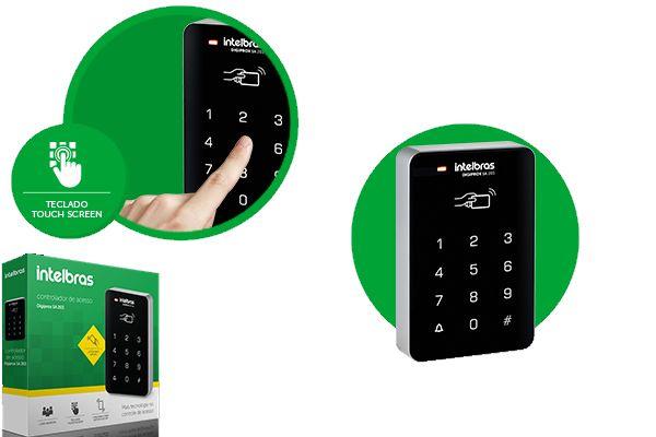 Controlador de acesso 125 kHz intelbras Digiprox SA 203  - JS Soluções em Segurança