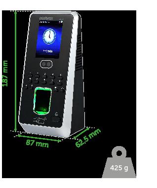 Controlador de acesso 125 kHz proximidade, senha, biometria digital e biometria facial Intelbras SS 710  - JS Soluções em Segurança
