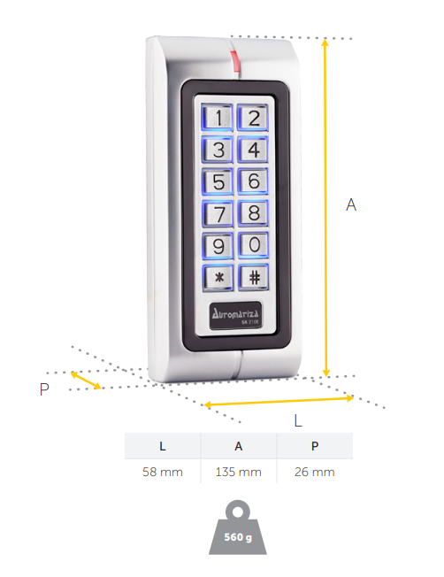 Controlador de acesso 125 kHz intelbras SA 210 E - JS Soluções em Segurança