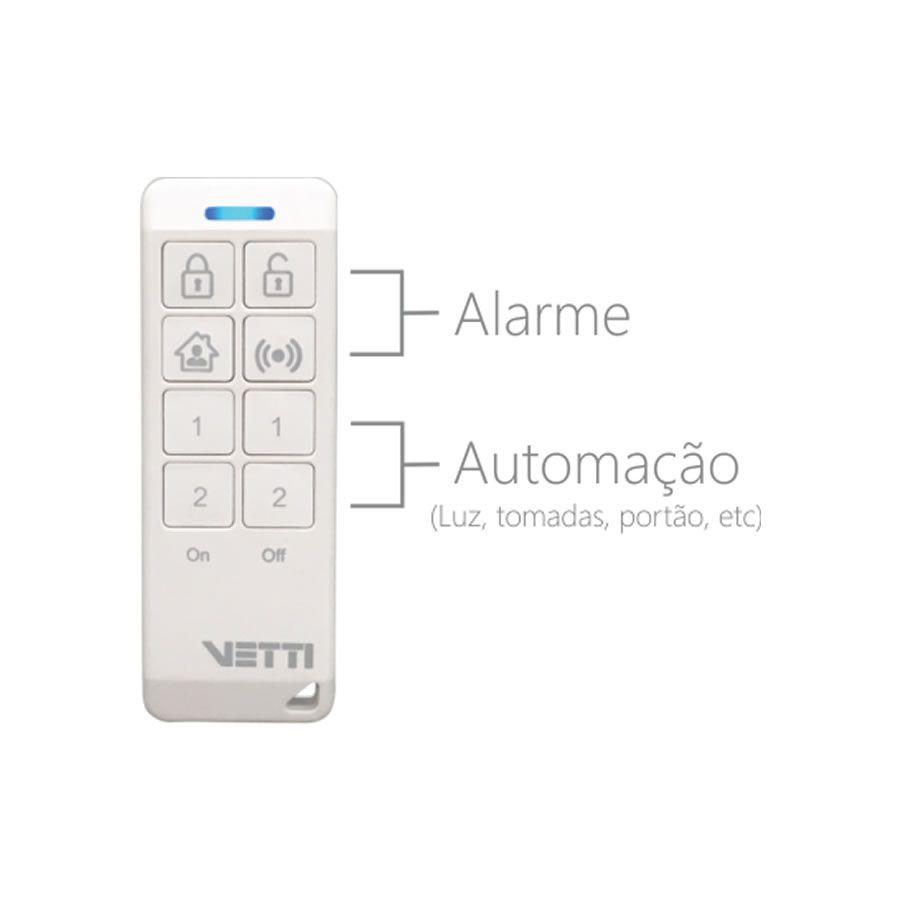 Controle Alarme e Automação 8 teclas Vetti - JS Soluções em Segurança