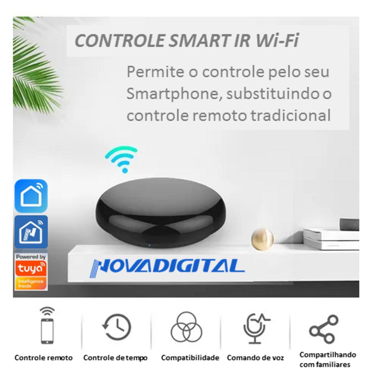 Controle Infravermelho WiFi Automação Casa inteligente controle tudo pelo Smartphone - JS Soluções em Segurança