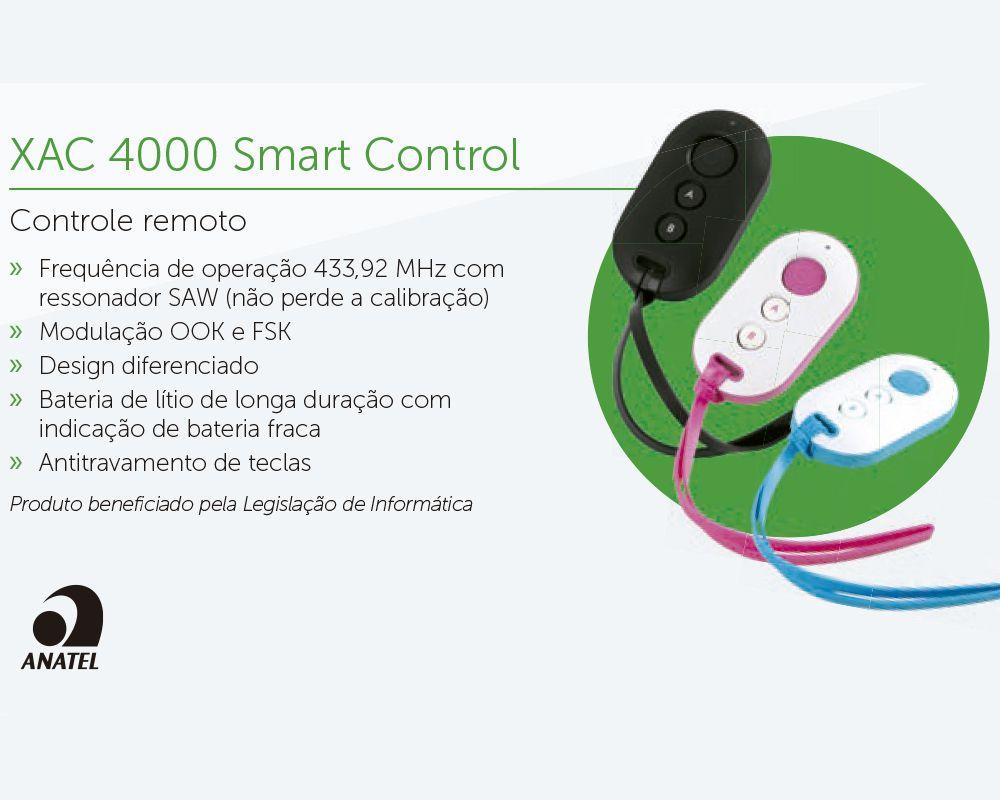 Controle remoto XAC 4000 SMART - AZUL - JS Soluções em Segurança