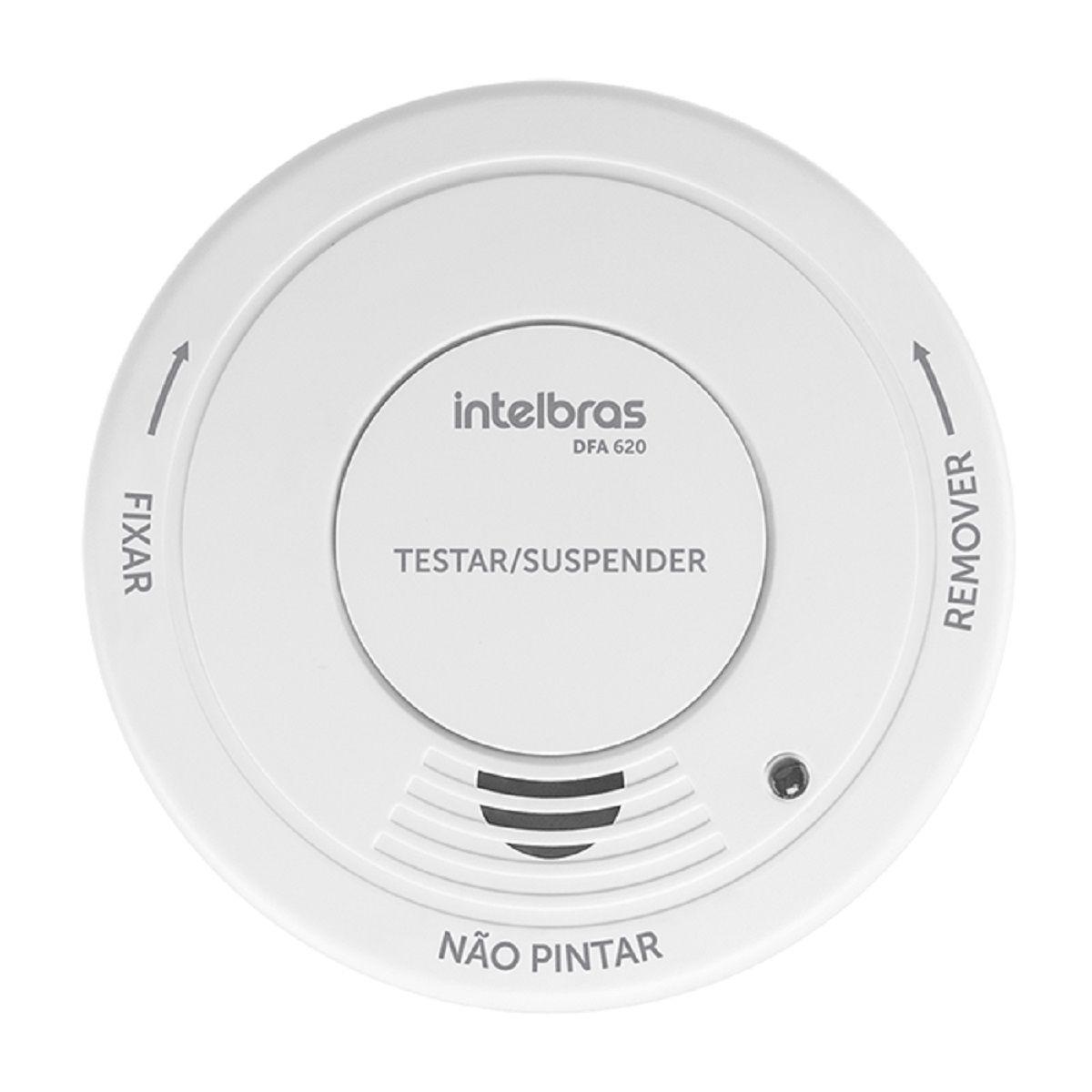 Detector de fumaça autônomo intelbras sirene 85 dB DFA 620 - JS Soluções em Segurança