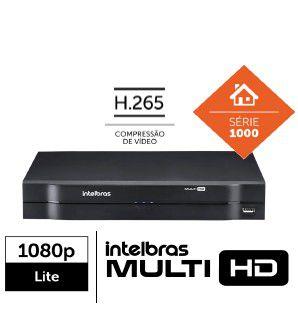 DVR gravador 8 canais AHD,HDTVI,HDCVI,analógica + 2 canais IP =10 canais Full HD intelbras MHDX 1108 1080p - JS Soluções em Segurança