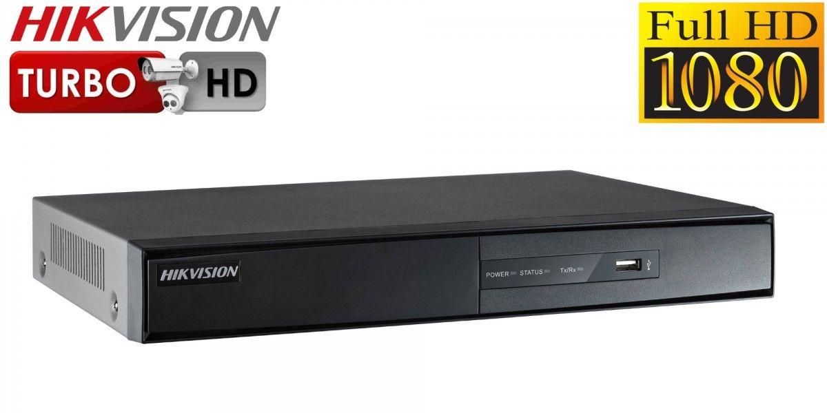 DVR Gravador Pentaflex 4 canais Turbo Full HD (HDTVI, AHD-M, HDCVI, analógica + 1 canal ip) 5 em 1 Hikvision 1920x1080p  - JS Soluções em Segurança