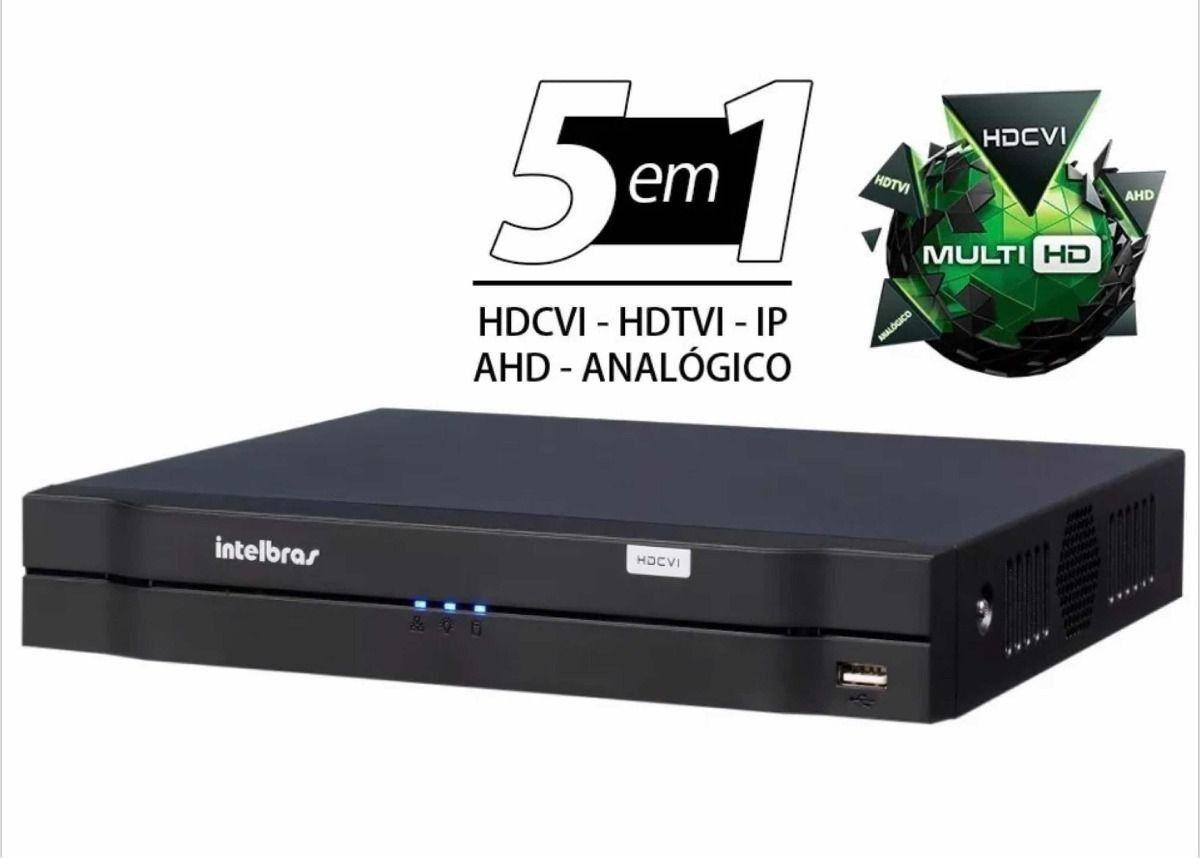 DVR Stand Alone Intelbras 4 canais AHD,TVI,HDCVI e Analógico + 1 Canal IP 5 em 1 MHDX 1104 1080p - JS Soluções em Segurança