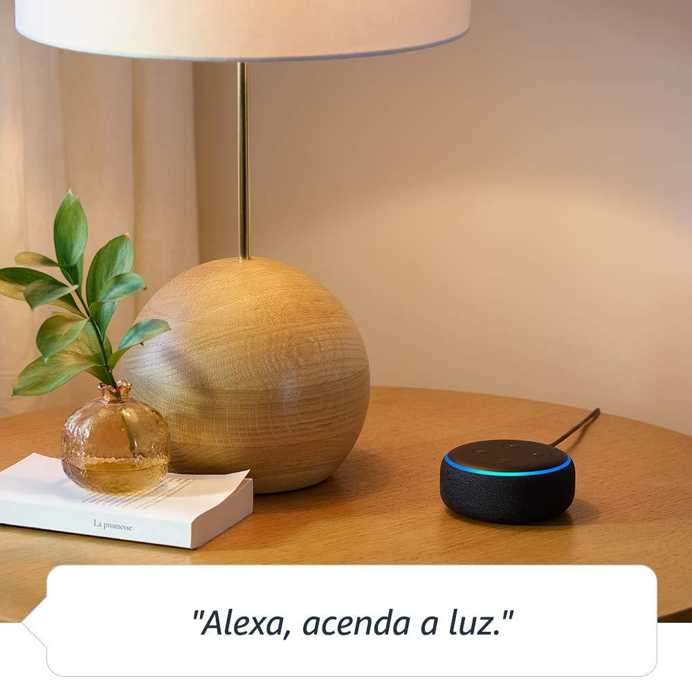 Echo Dot (3ª Geração): Smart Speaker com Alexa - Cor Preta - JS Soluções em Segurança