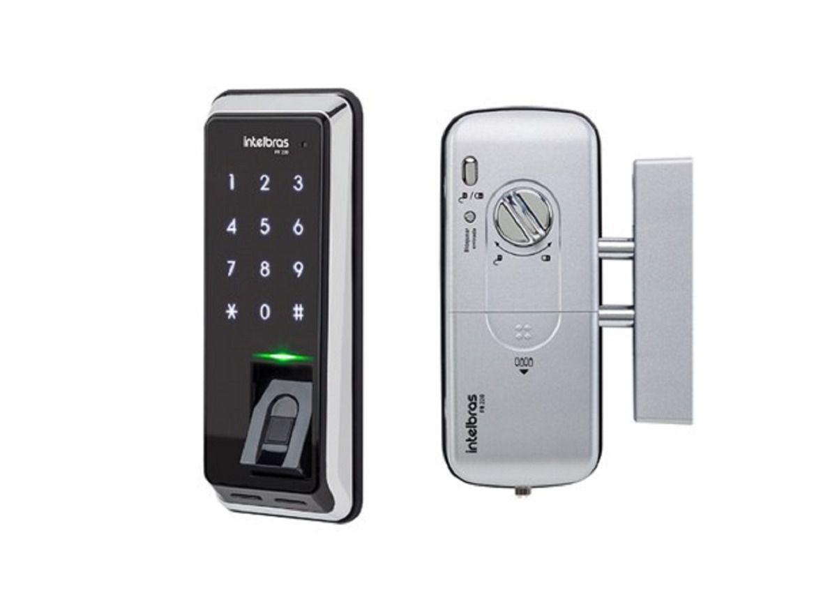 Fechadura digital de sobrepor com biometria FR 220 intelbras  - JS Soluções em Segurança