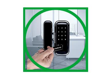 Fechadura Digital Intelbras FR 400 Para Portas de Vidro C/ Chaveiro e Senha Teclado Touch - JS Soluções em Segurança