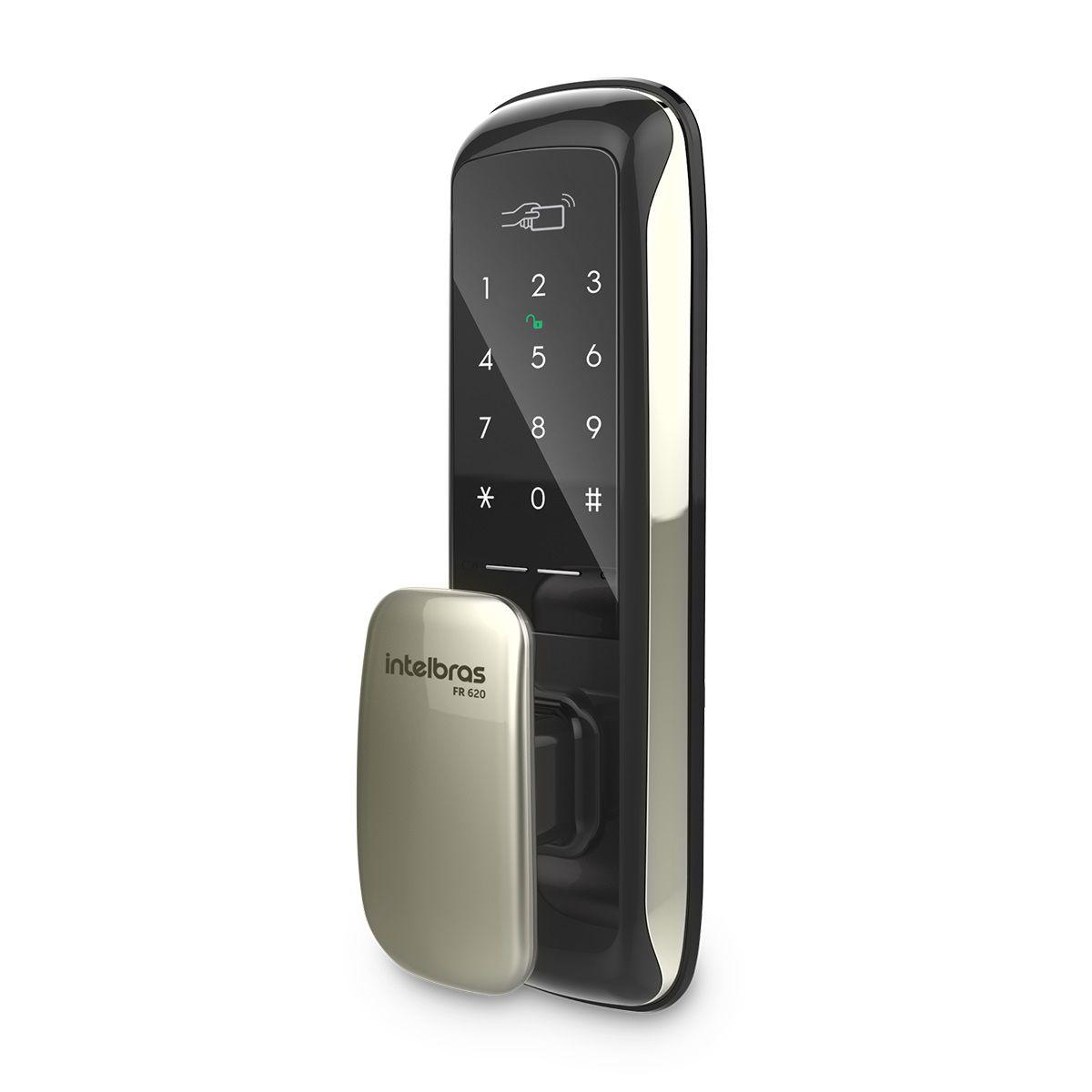 Fechadura Digital Push & Pull intelbras FR 620 - JS Soluções em Segurança