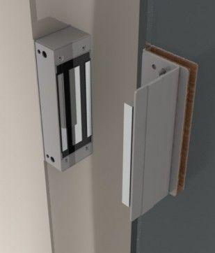 Fechadura Eletroímã 150 Kgf para portas deslizantes KT 753 INOX - JS Soluções em Segurança