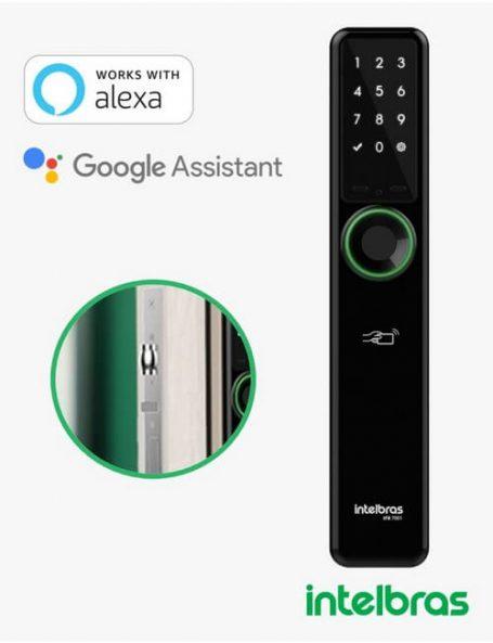 Fechadura Smart de embutir senha,biometria,tags e 2 chaves intelbras IFR 7001 - JS Soluções em Segurança