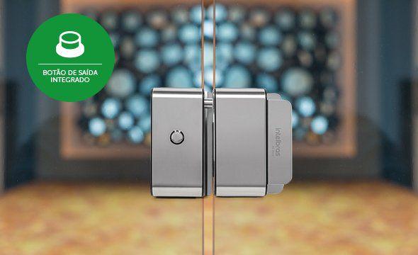Fechadura solenoide fail safe vidro x vidro intelbras FS 3010 V - JS Soluções em Segurança