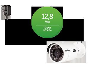 FONTE DE ALIMENTAÇÃO 12,8V 1A REAL INTELBRAS EF 1201 - JS Soluções em Segurança