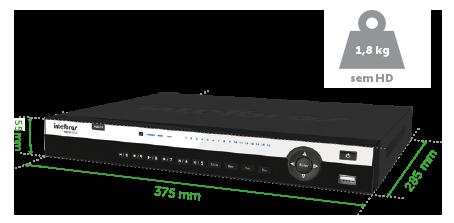 GRAVADOR DIGITAL DE VÍDEO 08 CANAIS MULTI-HD + 4 CANAIS IP = 12 CANAIS MHDX 5108 INTELBRAS ULTRA HD 4k  - JS Soluções em Segurança