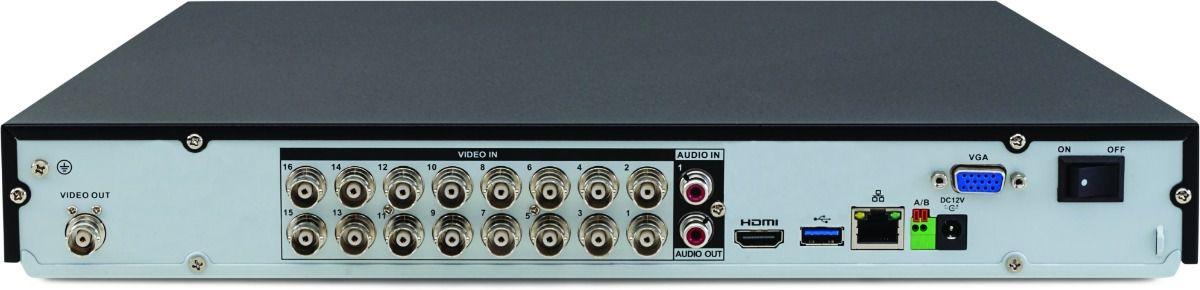Gravador digital de vídeo 16 Canais BNC 4K Ultra HD + 8 canais IP H.265+ intelbras MHDX 5216 4K - JS Soluções em Segurança
