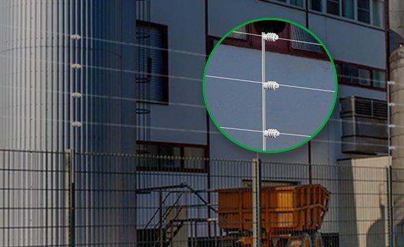Haste Barra Chata aluminio com 4 isoladores intelbras - JS Soluções em Segurança