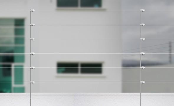 Haste Barra Chata aluminio com 6 isoladores intelbras - JS Soluções em Segurança