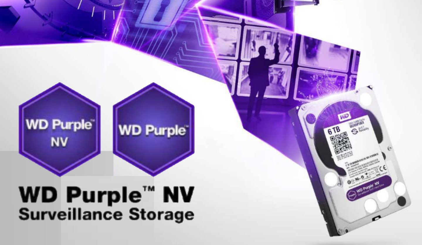 HD interno WD Purple 6 TB Surveillance 24hs para CFTV - JS Soluções em Segurança