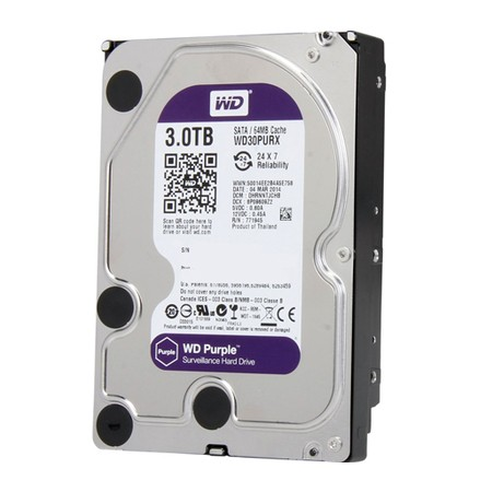 HD interno WD Purple 3 TB Surveillance 24hs para CFTV - JS Soluções em Segurança