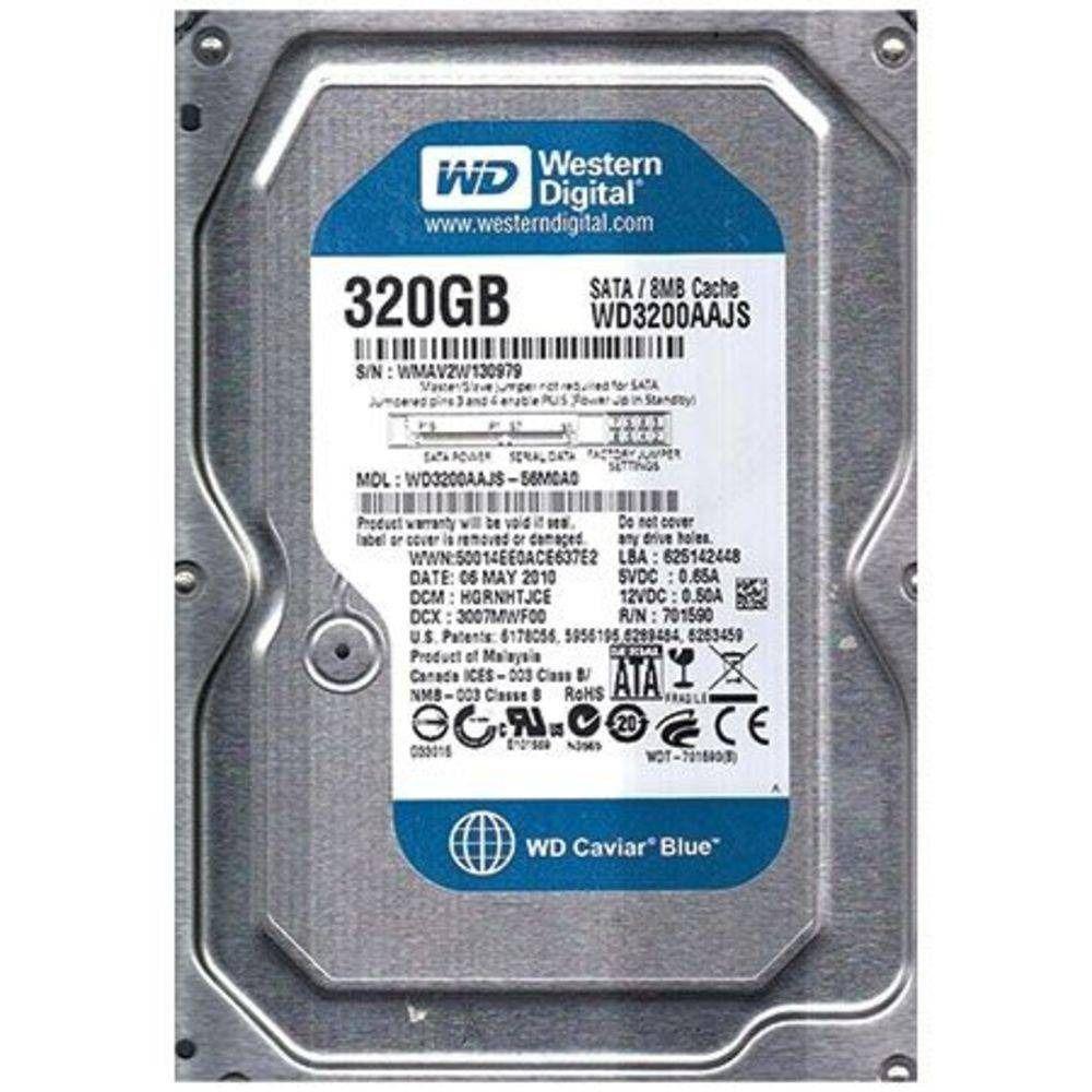 HD Western Digital 320gb Sata 3gbs 7200rpm - JS Soluções em Segurança