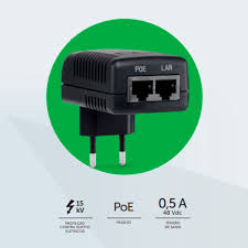 Injetor PoE passivo Fast Ethernet intelbras PoE 4805 PF - JS Soluções em Segurança