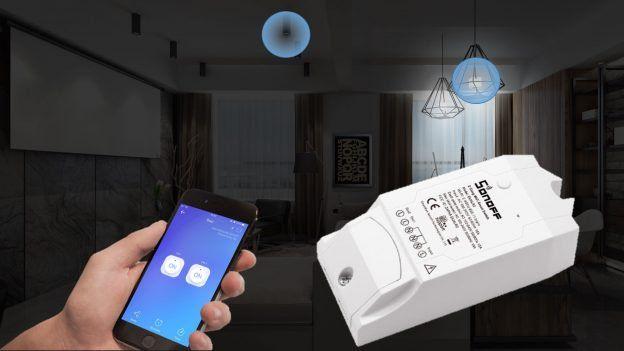 Interruptor inteligente Wi-Fi 3500W 16A 2 CANAIS SONOFF DUAL R2 - JS Soluções em Segurança
