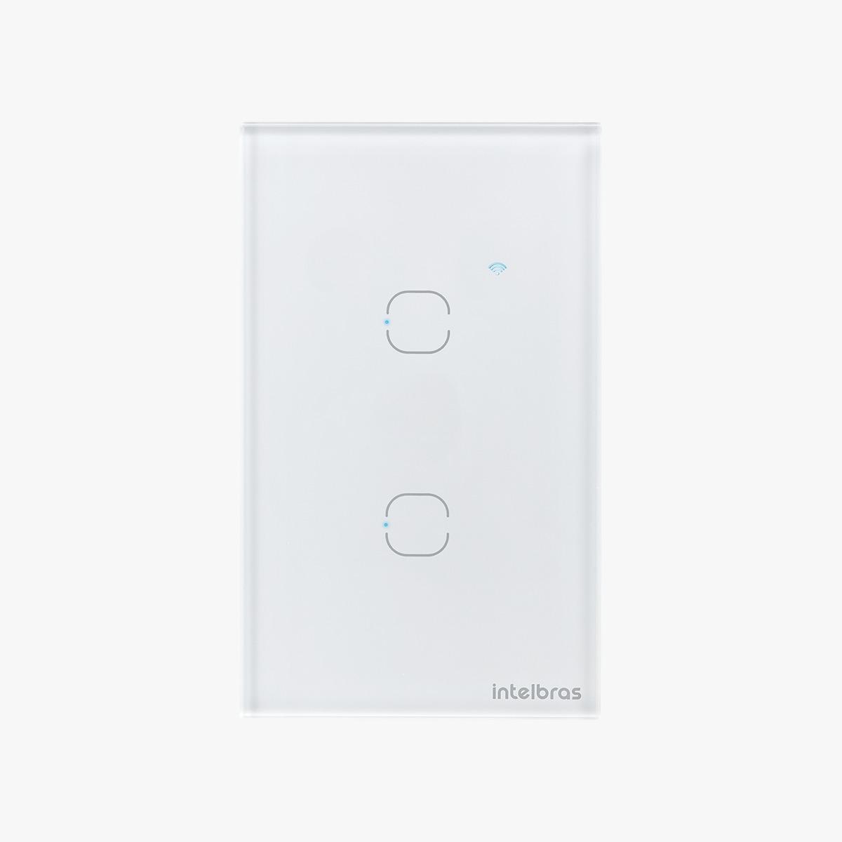 Interruptor touch smart Wi-Fi 2 Botões 4x2 Intelbras EWS 1002 branco - JS Soluções em Segurança