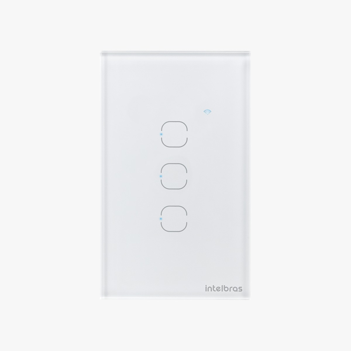 Interruptor touch smart Wi-Fi 3 Botões 4x2 Intelbras EWS 1003 branco - JS Soluções em Segurança