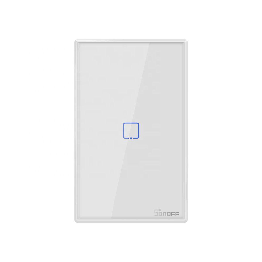 Interruptor inteligente Wi-Fi 1 Botão touch automação Smart RF 433.92 Mhz TX-T2US1C Sonoff - JS Soluções em Segurança