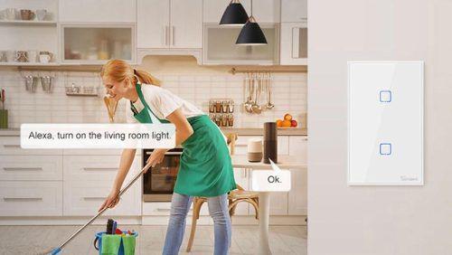 Interruptor Wifi Sonoff TX2 1 canal touch automação Smart RF 433.92 Mhz - JS Soluções em Segurança