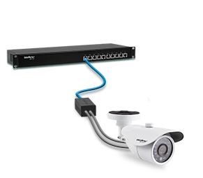 Kit Power balun 19/1U receptor e transmissor 16 canais RJ45 Vídeo e Alimentação até 300mts intelbras VB 3016 WP 2160p 4k - JS Soluções em Segurança