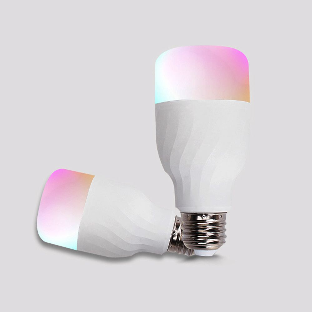 Lâmpada inteligente Wi-Fi led colorido inteligente rgb+c+w compatível alexa e google Bivolt 10W E27 com Dimmer - JS Soluções em Segurança