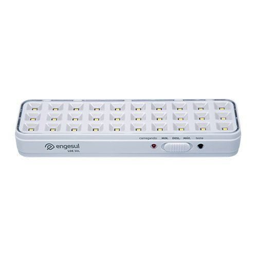 Luminária de emergência autônoma Bivolt intelbras LDE 30L - JS Soluções em Segurança