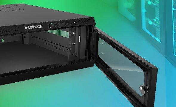 "Mini Rack desmontável de parede 3U – 19"" x 570mm MRD 357 intelbras - JS Soluções em Segurança"