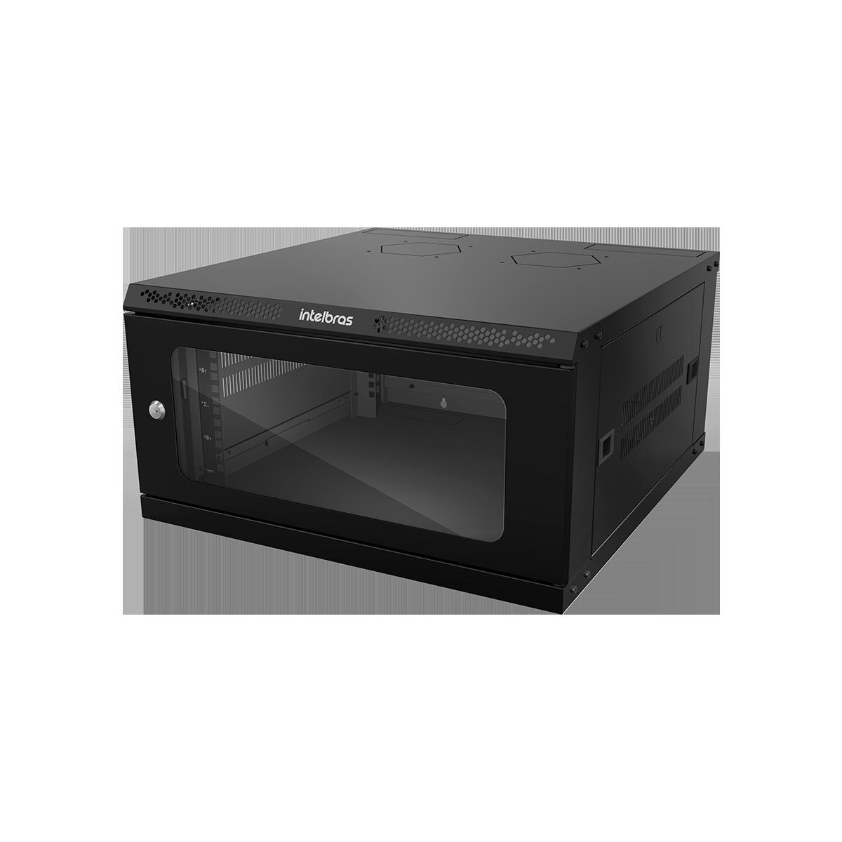 "Mini Rack desmontável de parede 5U – 19"" x 570mm MRD 557 intelbras - JS Soluções em Segurança"