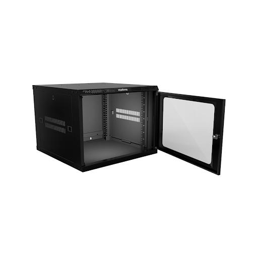 "Mini Rack desmontável de parede 8U – 19"" x 570mm MRD 857 intelbras - JS Soluções em Segurança"