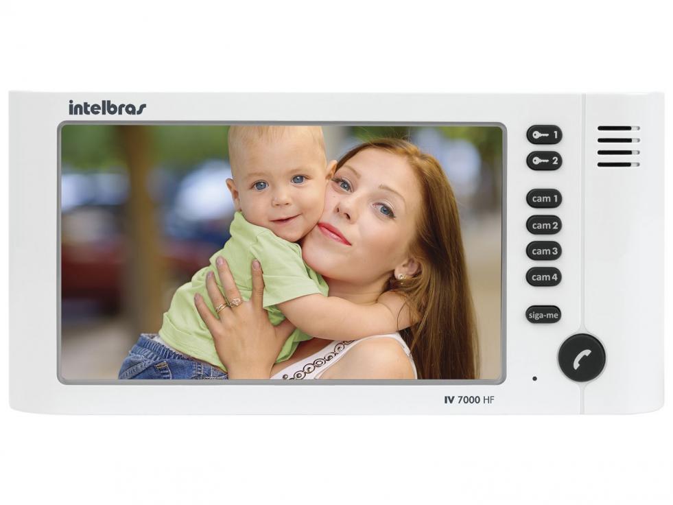 Módulo interno para videoporteiro IV 7000 HF IN  INTELBRAS - MONITOR - JS Soluções em Segurança