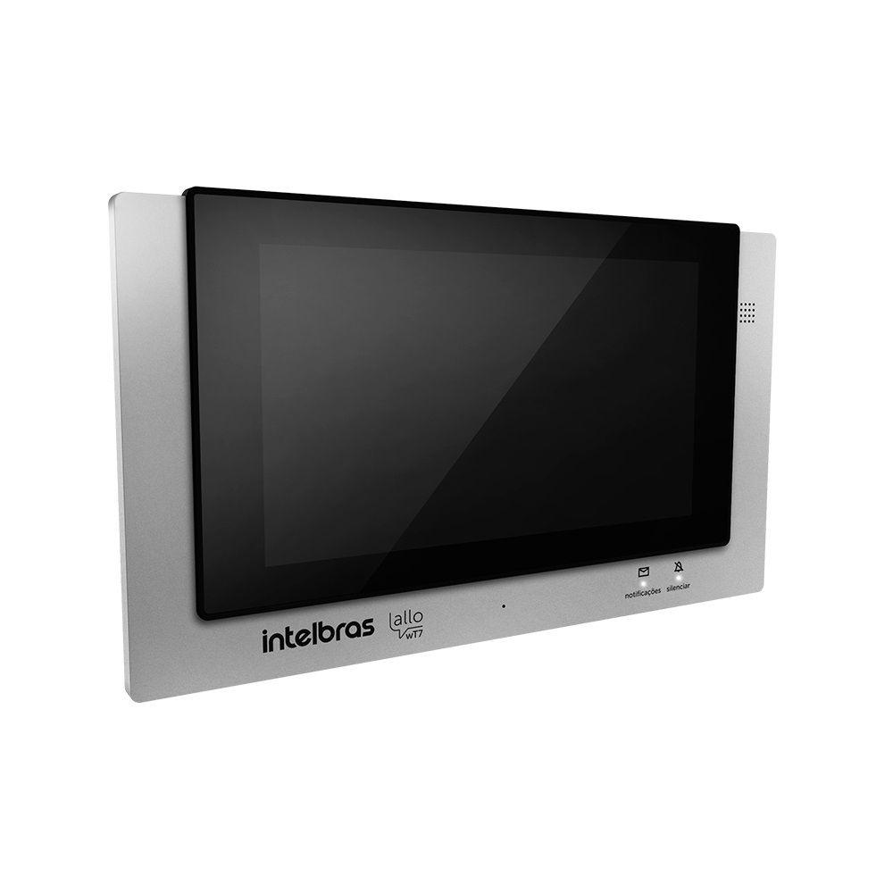 Modulo interno video porteiro com fio intelbras app Wi-Fi Allo WT7 - JS Soluções em Segurança